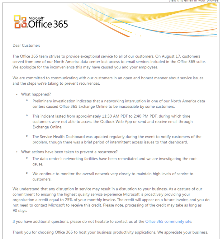 Lyle Epstein's Systems Engineer Blog » Office 365 is down